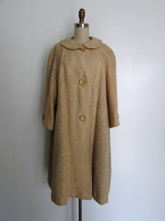 novel style complete range of articles best wholesaler 1960s camel swing coat | vintage 60s camel colored coat | winter coat |  large - extra large | The Sisley Coat