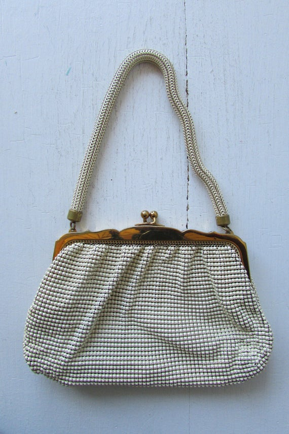 1950s whiting and davis handbag | vintage mesh han