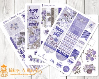 Roses and Lace Stickers for The Happy Planner   Planner Stickers   Planner Accessory