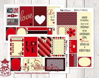 Hugs & Kisses Sticker Set Planner Accessory for The Classic Happy Planner