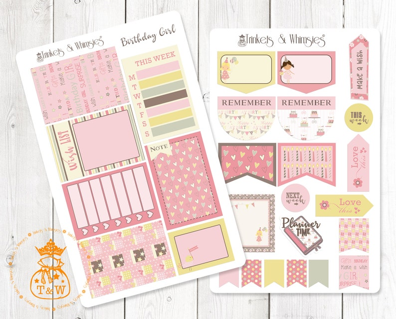 Birthday Girl Planner Stickers for the Classic Happy Planner/_Glossy