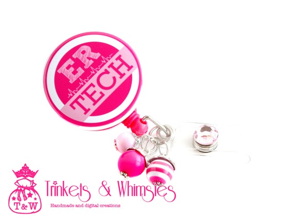 Emergency Room Technician ER Tech Pink And White Retractable Etsy