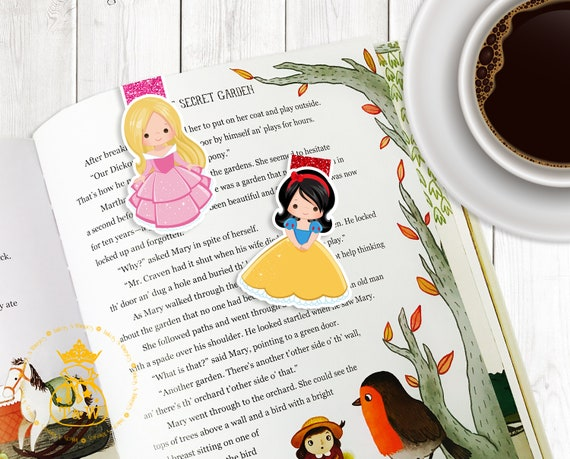 Alice in Wonderland Fan Art Fairytales and Princesses Magnetic Bookmark Planner Page Marker