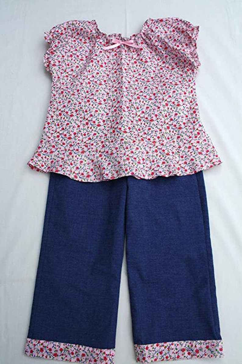 Girls Size 5 Flounce Top and Coordinating Pants Outfit