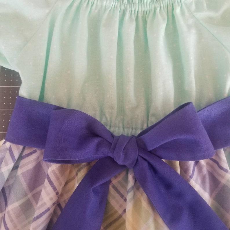 Toddler Girls Spring Easter Dress Plaid Easter Dress Infant Girls Dress
