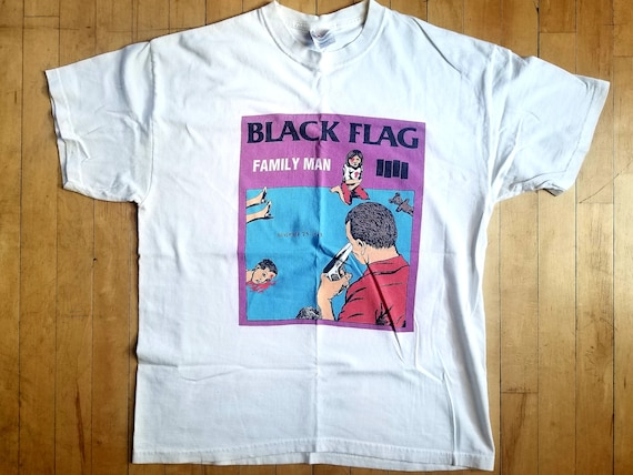 "Vintage Black Flag ""Family Man"" Shirt Sz L"