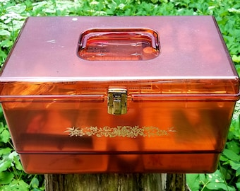 Vintage Sewing Box with Contents