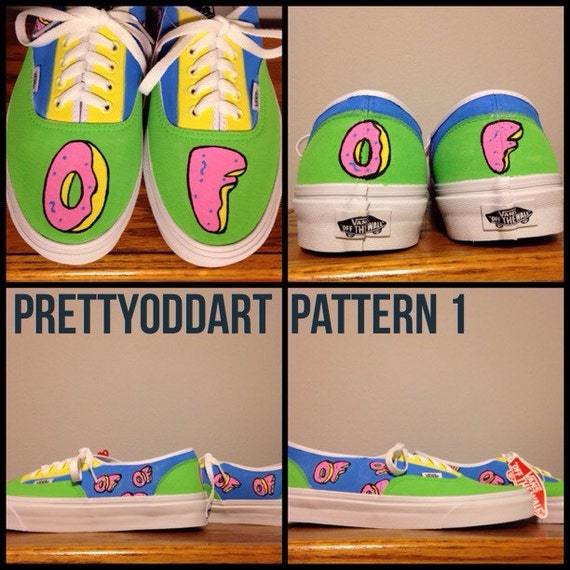 fa6730636826 Odd Future Hand Painted Shoes Vans