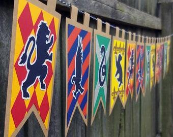 Wizarding Triple School Houses Home Decor Banner
