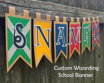 Wizarding School Custom Name Birthday Party Banner or Gift