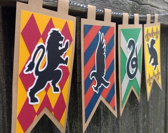 Wizarding School Houses Home Decor Banner