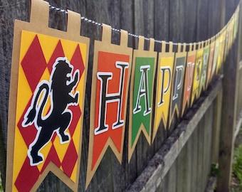 Wizarding School Happy Birthday Banner