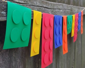 Brick and Block Home Decor Party Banner