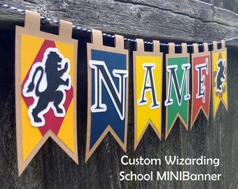 Wizarding School Custom Name Birthday Party MINIBanner or Gift