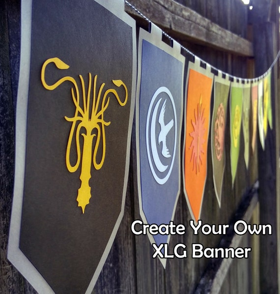 XLG Create Your Own House Sigils Throne of Games Party Banner on back house ideas, blue house ideas, stone house ideas, nature house ideas, green house ideas, spirit house ideas, water house ideas, dream house ideas, steampunk house ideas, fire house ideas,