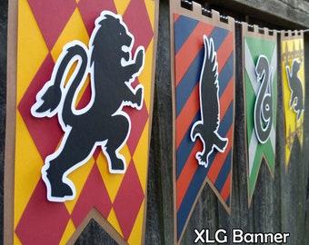 Wizarding School Houses XLG Decor Banner