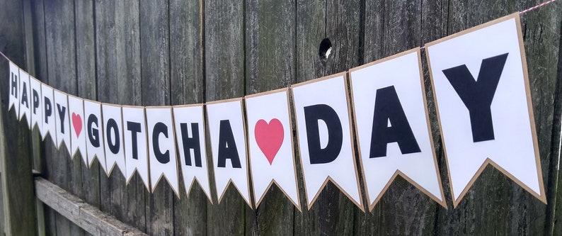 Happy Gotcha Day Adoption Day Or Anniversary Banner