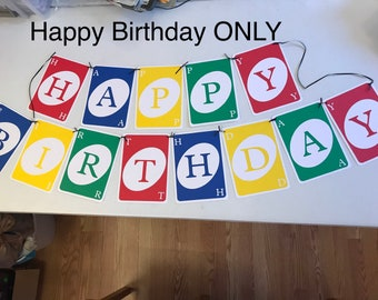FULL SIZE UNO party banner cardstock