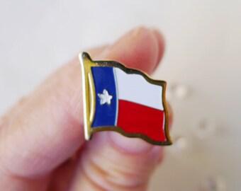 Texas Flag Pin, Lone Star State, Enamel Pin, Flag Shaped Pin, Texas Lapel  Pin, Texas Lover Gift, Enamel Flag Jewelry, Texas State Flag