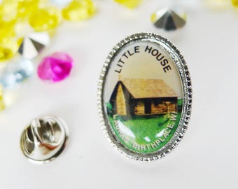 Little House Pin, Free Shipping, Laura's Birthplace WI, Laura Ingalls Wilder, Little House on the Prairie pin, Little House Books Author