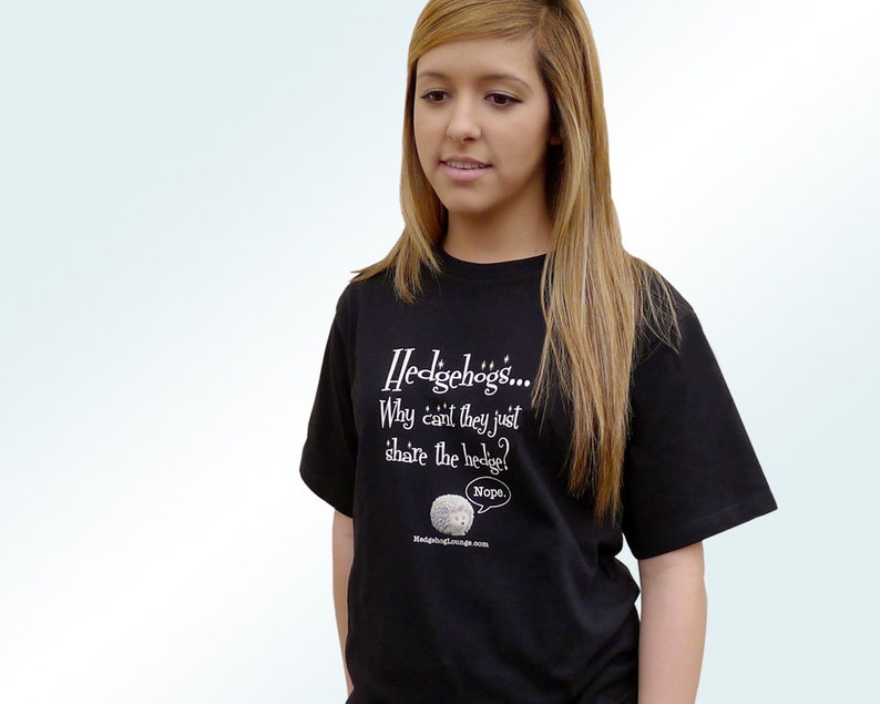 Hedgehog T Shirt Why Can't They Just Share the Hedge image 0