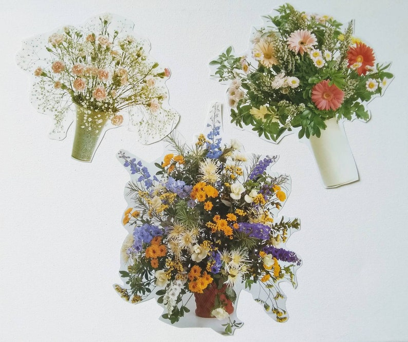 image 0 ...  sc 1 st  Etsy & Flower Ephemera Flowers in Vases Mix 3 Collage Journal | Etsy