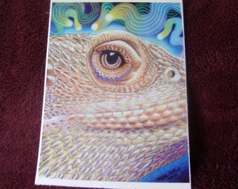 Dragon Star: Bearded Dragon Mini Print