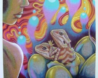 Bearded Dragon Art Poster #2