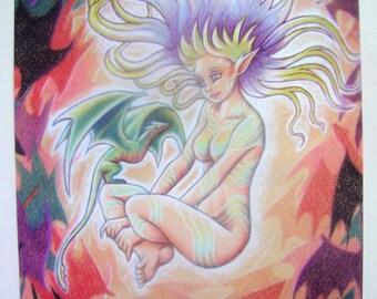 Dragon Fantasy Art Poster #1
