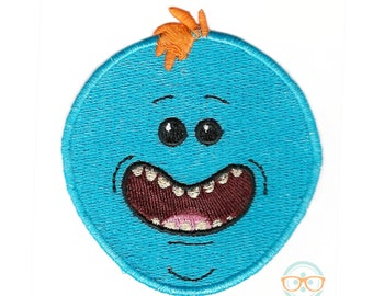 Rick and Morty Patch - Mr. Meeseeks - Geeky Embroidered Iron on Patch or Applique