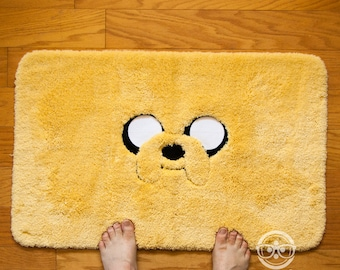 Adventure Time Bath Mat or Rug - Jake - Embroidered Geeky Bathroom or Kitchen Decor