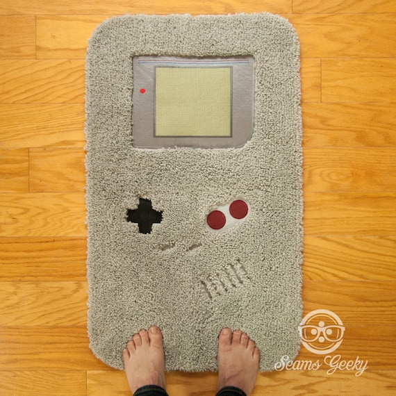 image 0 & Nintendo Bath Mat or Rug Game Boy Embroidered Video Game | Etsy