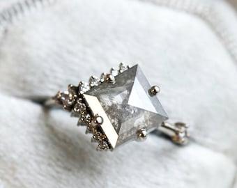 Gemstar Jewellery 18K Black Gold Finishing Brilliant Shape Aquamarine Cluster Flower Stud Earrings