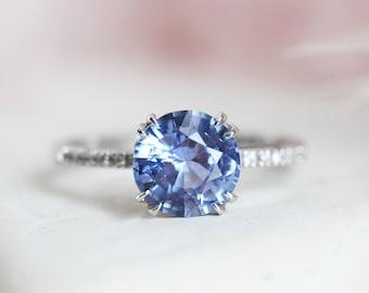 Black Glod Filled Sapphire Gemstone Silver weddiing Fiançailles Set Ring 296