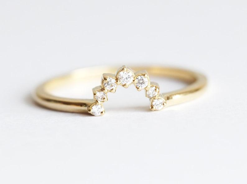 Matching Diamond Ring Diamond Stacking Ring Round Diamond image 0