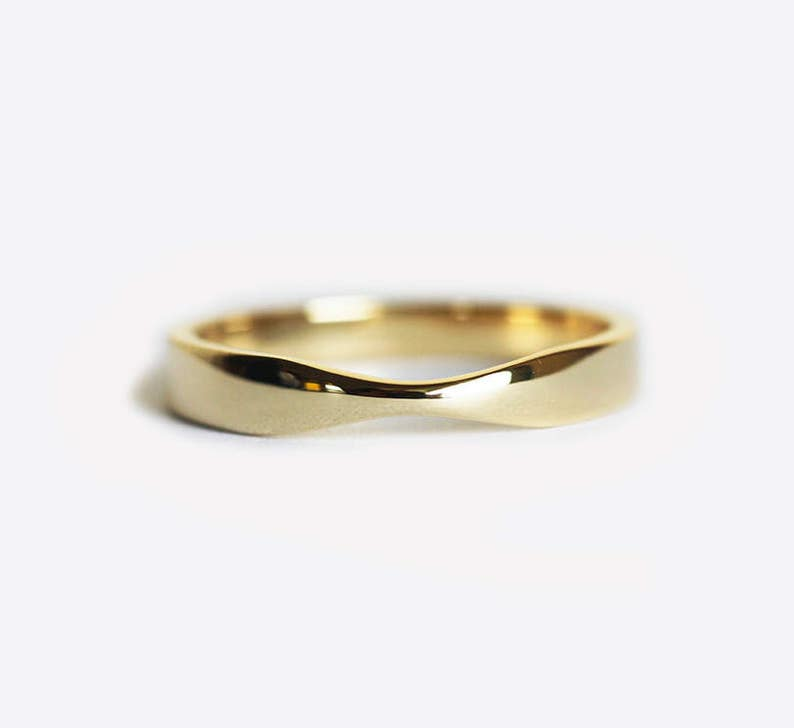 a79a9e88ab51 Yellow Gold Wedding Ring Gold Womens Wedding Band Simple