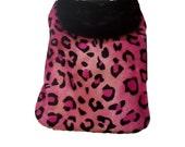 Dog Coat, Dog Clothing, Dog Dress, Pet Coat, Pet Clothing, Dog Jacket, Custom Sizes - Pink Cheetah Print Fur Coat