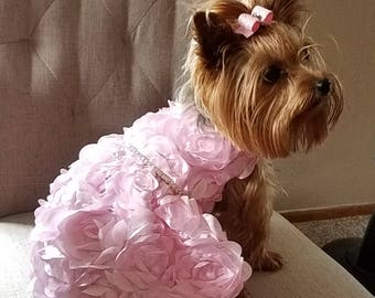 Dog Wedding Dress White Satin With Full Tutu Pet Clothing Etsy