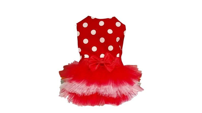 bdd84ceb0d Dog Tutu Dress Red and White Polka Dots