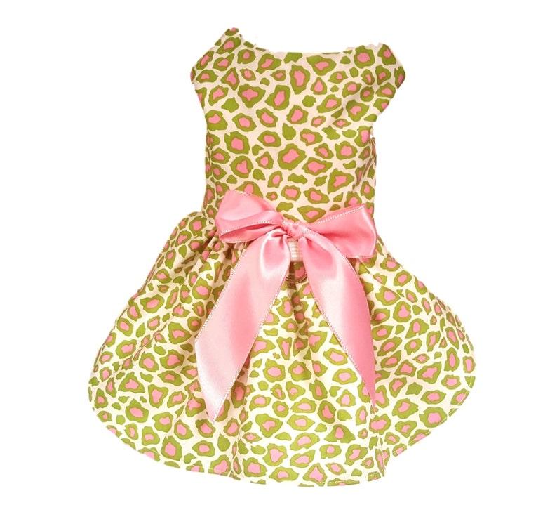 Dog Dress Dog Clothing Small Dog Dress Pet Clothing Cheetah Print