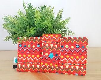 fox wallet, handmade wallet, wallet, fabric wallet, fox, blue and white wallet, case