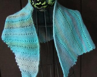 Hand Knitted Asymmetrical Shawl