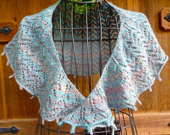 Hand Knitted Lace Shawl, Light and Airy Shawl, Women's Lace Shawl