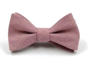 886fe974fd49 Mauve Bow Tie, Mens Mauve Chambray Bowtie, Vintage Rose Ties, Rose Quartz  Tie, Dusty Mauve Wedding - Traditional Self-Tie or Pre-Tied