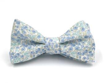 c8aeda3cff8f Dusty Blue Bow Tie, Men's Light Blue Bow Tie, Floral Bow Tie, Pale Blue  Bowtie, Dusty Blue Wedding - Traditional Self-Tie or Pre-Tied