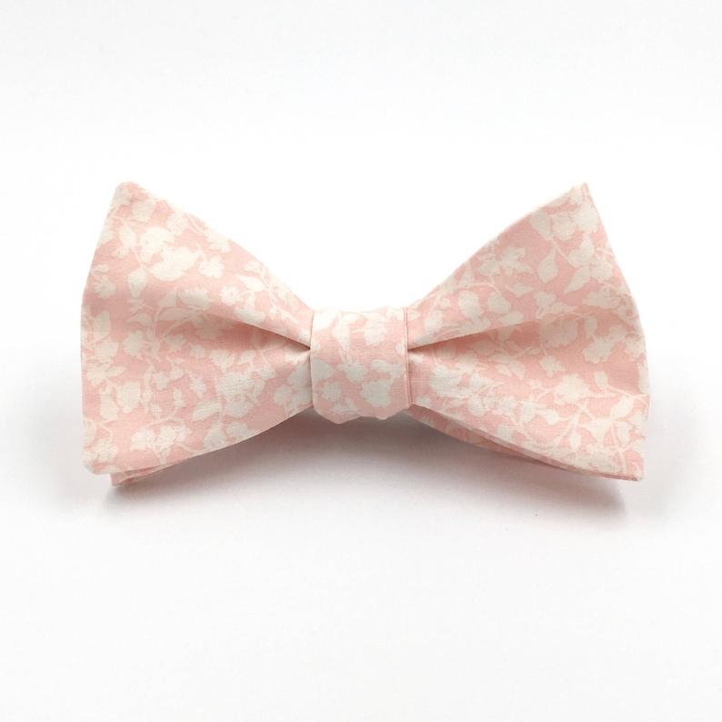 408cf96efc7f Blush Bow Tie Men's Light Pink Floral Bowtie Pale Misty | Etsy