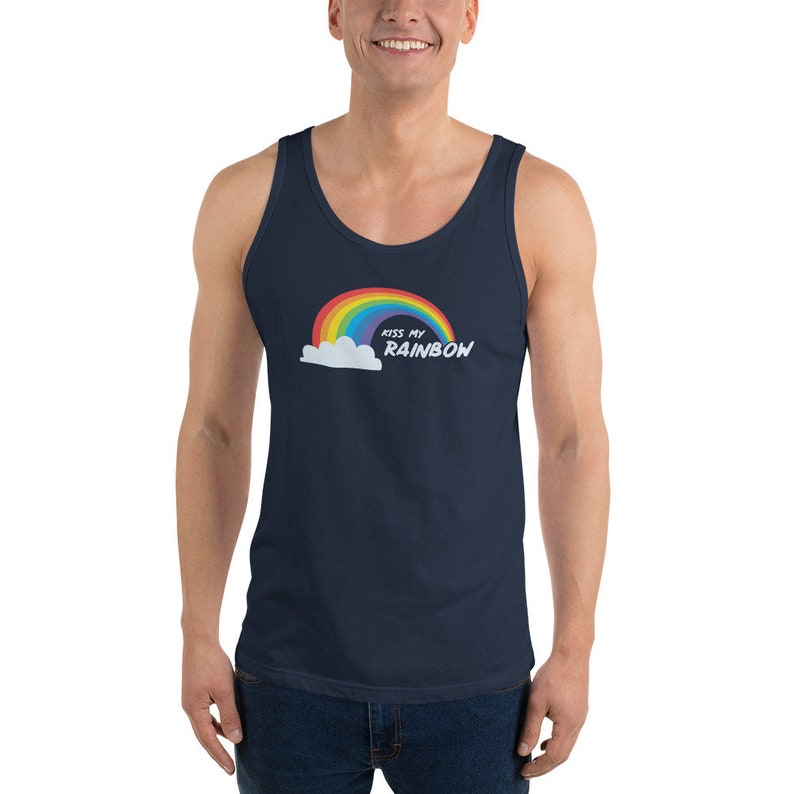 5711811455d198 Pride shirt rainbow shirt gay pride tank top funny shirt gym