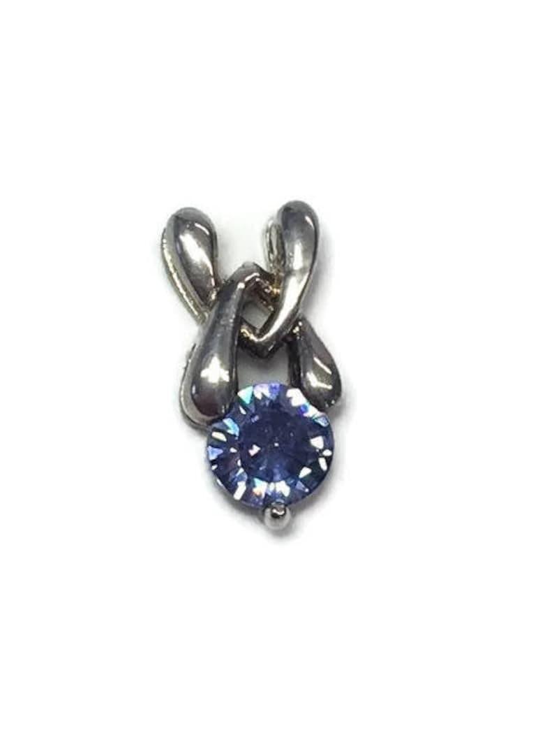 "925 Sterling Silver Cross Pendant Marcasite CZ Aqua Blue Stones 2/"" Gift Boxed"