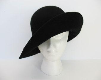 Womens Wool Hat Black Helen Kaminski Felt Wool Australia Fedora