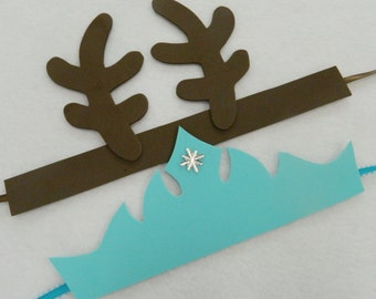 PARTY PACK Frozen Sven Reindeer Antlers Headbands Elsa Tiaras Party Favors Mix And Match